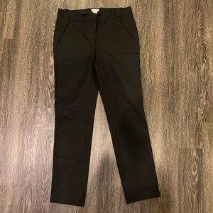 J CREW BLACK ANKLE PANTS SIZE 2 SHORT